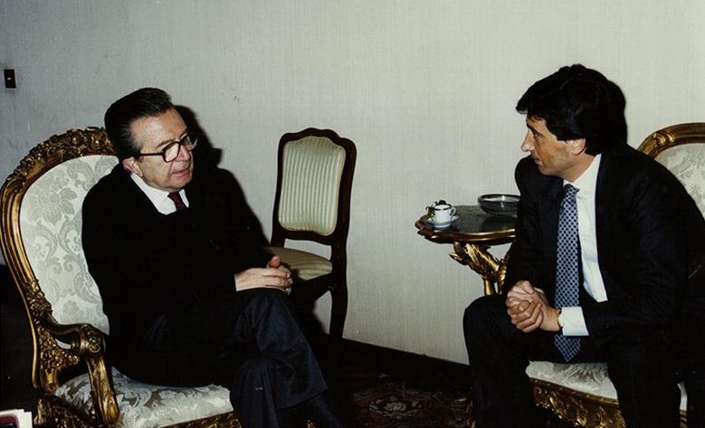 Giacomo Basso Presidente Casartigiani con Giulio Andreotti