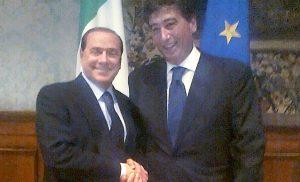 Silvio Berlusconi e il Presidente di Casartigiani Giacomo Basso