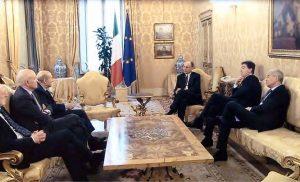 Giacomo Basso, Presidente di Casartigiani, in un incontro con il Presidente Enrico Letta
