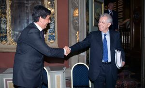 Incontro tra Mario Monti e Giacomo Basso, Presidente di Casartigiani