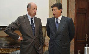 Corrado Passera con il Presidente Giacomo Basso