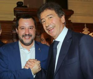 Giacomo Basso di Casartigiani e Matteo Salvini