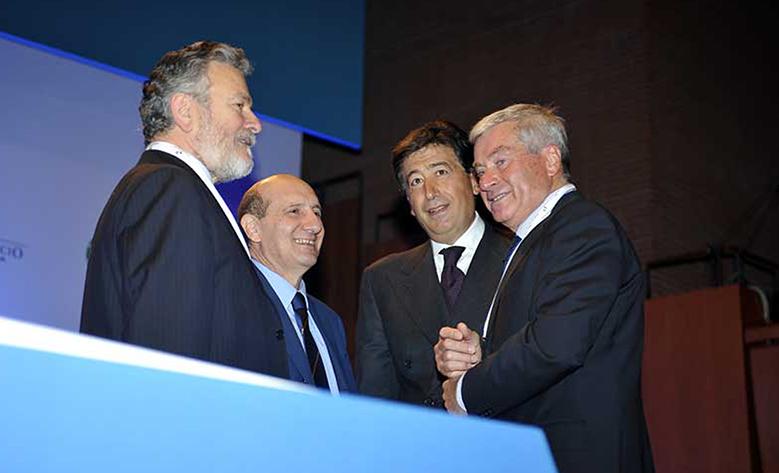 Giacomo Basso, Presidente Casartigianidurante, con gli altri referenti di Rete Imprese Italia